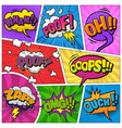 comic page background vector image vector image