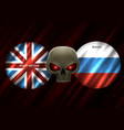 conflict between great britain and russia vector image