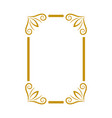 decorative frame icon design template vector image