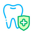 Dentist stomatology tooth protection icon