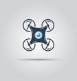 drone with camera bottom view isolated sign vector image