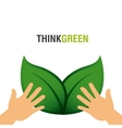 ecology leafs green icon vector image