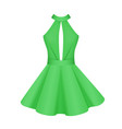elegant women cocktail prom green dress vector image vector image