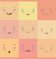 emotion flat set vector image vector image