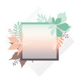 fashion banner of autumn leaves with white contour vector image vector image