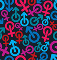 Gender symbols sexual category theme seamless