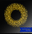 glitter circle backdrop vector image vector image