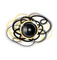 golden speaker vector image vector image