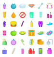 good cosmetic icons set cartoon style vector image vector image