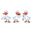 Goose Mascot with phone vector image vector image