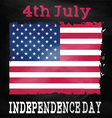Grunge 4th July background vector image vector image