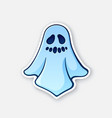 halloween scary ghost with evil smile vector image