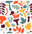 hand drawn fall seamless pattern autumn botanical vector image vector image