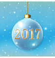 Happe New Year Christmas bauble vector image