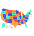 high detail usa map with different colors for vector image