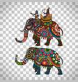 indian elephant transparent background vector image