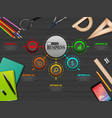 info graphics business template concept vector image