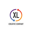 initial letter xl creative circle logo design vector image vector image
