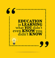 Inspirational motivational quote Education is vector image vector image