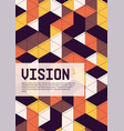 isometric abstract cover poster background vector image