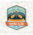kayak club live love kayak concept for vector image