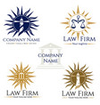 law firm logos vector image vector image