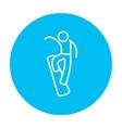 Man snowboarding line icon vector image