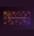 microorganism colorful outline horizontal vector image vector image