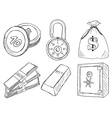 money and safe vector image vector image