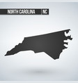 north carolina state map in black on a white vector image vector image