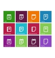 Notepad and sticky note icon set vector image