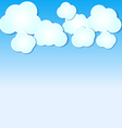 Paper clouds background on blue sky vector image vector image