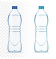 plastic realistic bottles with water and vector image vector image