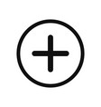 plus icon add symbol in modern design style for vector image