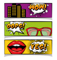 pop art comic book vector image vector image