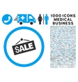 Sale Signboard Icon with 1000 Medical Business vector image vector image