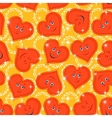Seamless Pattern Valentine Hearts Smiley vector image