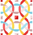 seamless pattern with flat ribbons vector image vector image