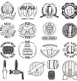 Set of beer labels badges and design elements vector image vector image