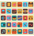 Set of buttons for design vector image