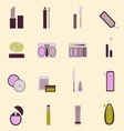 Set of cosmetic nude tone icons vector image