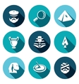Set of Egypt Icons Archaeology Search vector image