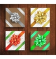 Set of Gift boxes - christmas and birthday giftbox vector image vector image