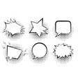 set of outline empty retro speech bubbles vector image