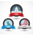 Set of USA famous monuments Capitol Golden Gate vector image vector image