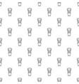 shaving brush pattern seamless vector image vector image