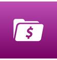 Shopping Dollar Folder file icon internet symbol vector image