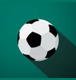 soccer ball icon football game symbol vector image