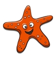 starfish black and white vector image vector image