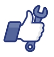 Thumbs Up icon with wrench vector image vector image